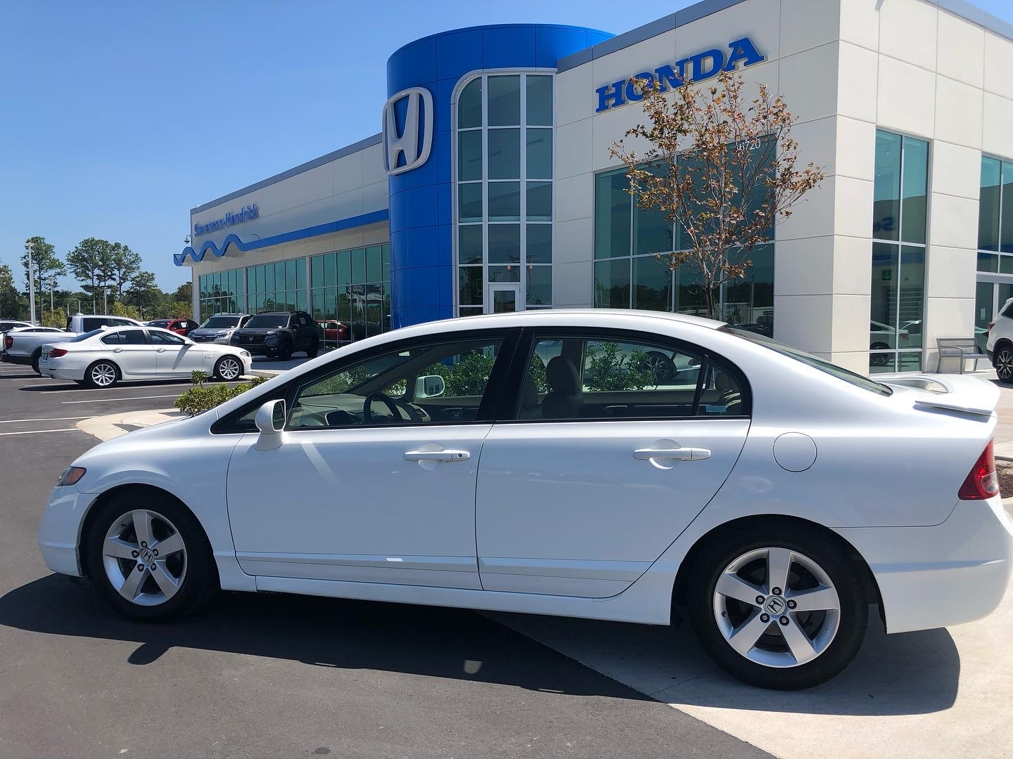 2008 Honda Civic sedan in white.