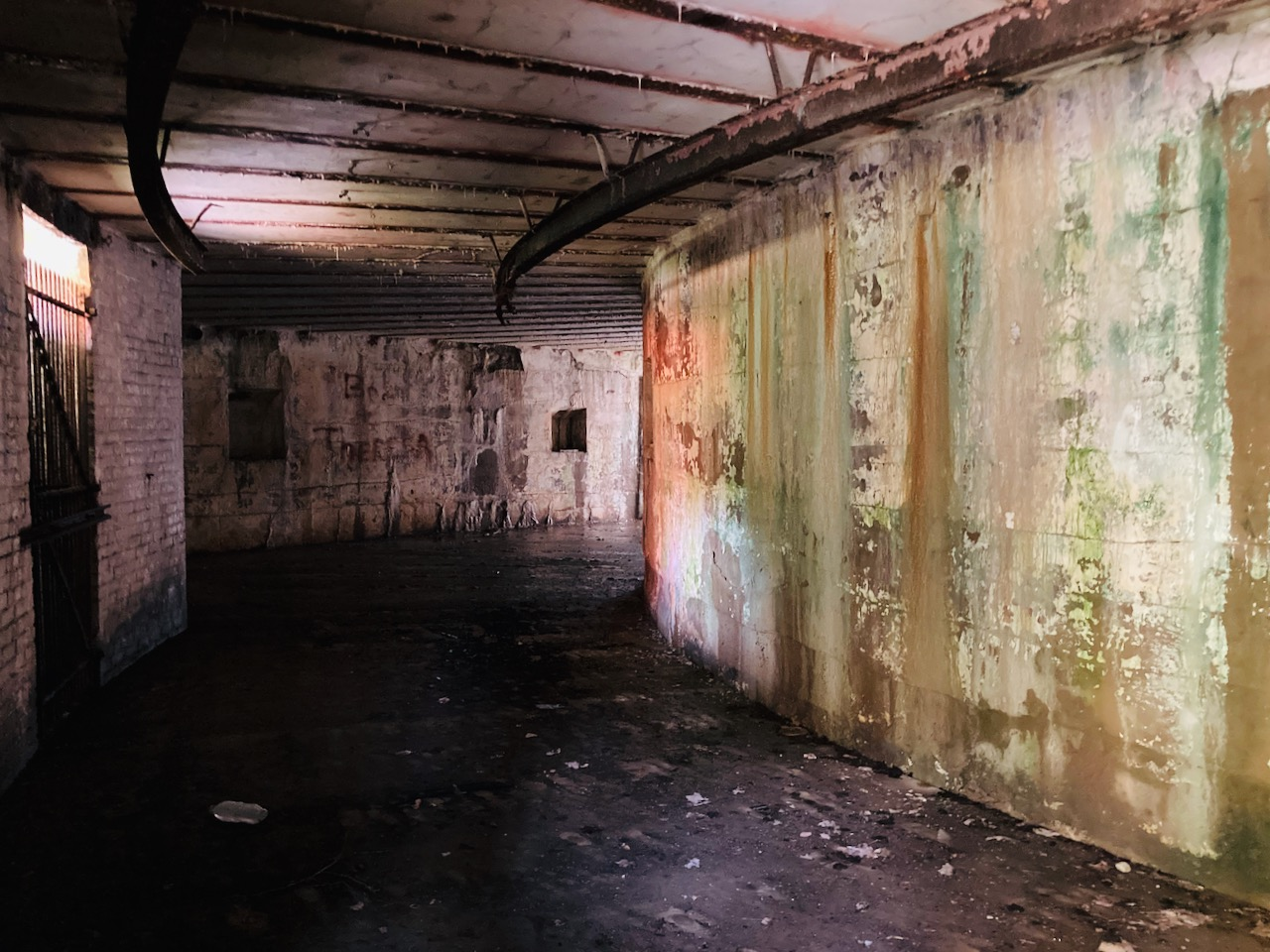 Interior of gun battery.