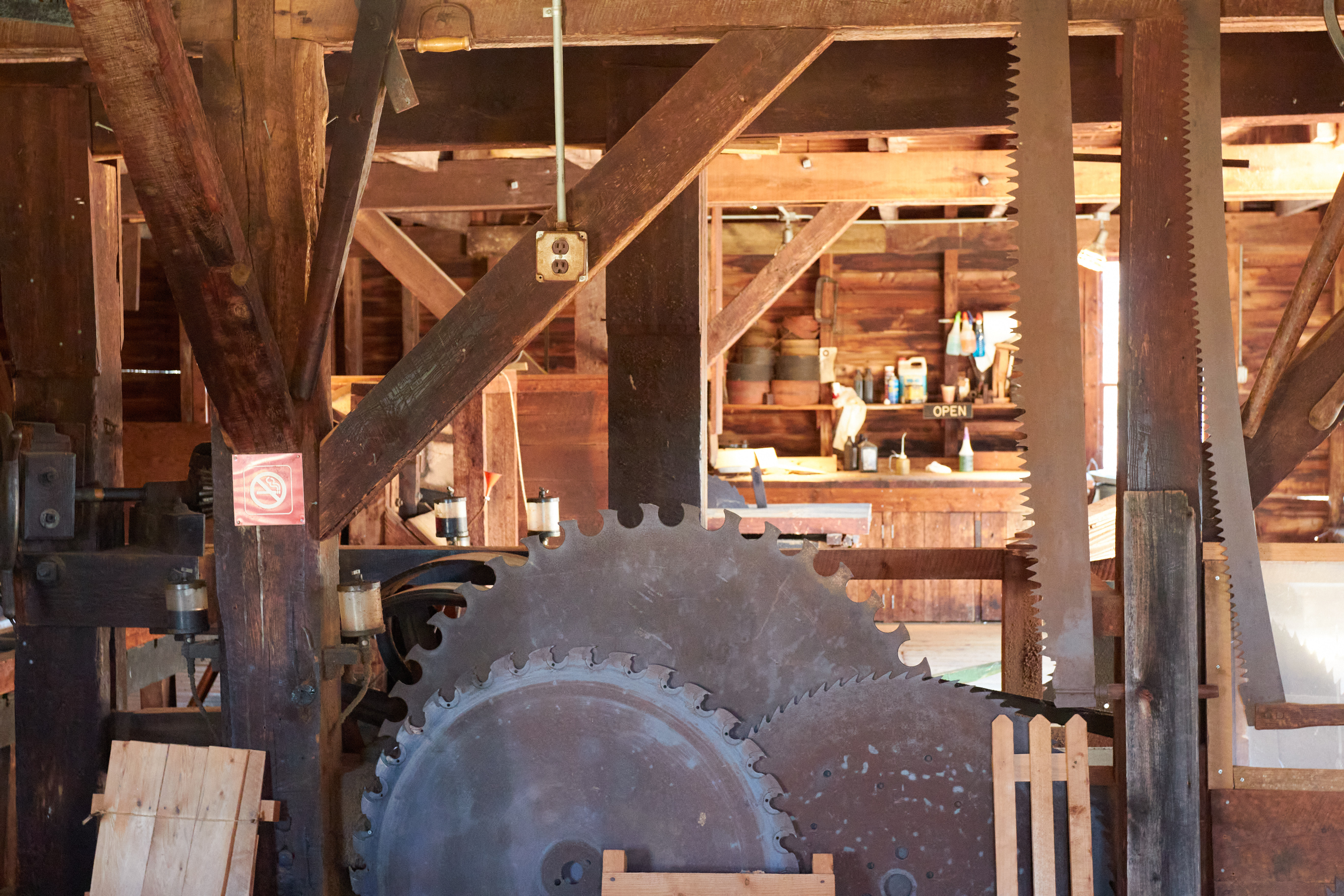 Interior of saw mill.