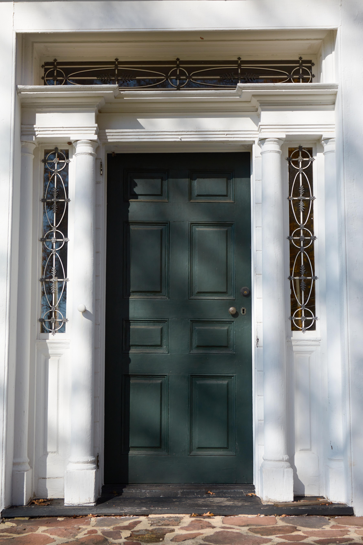 Front door of Staats House.
