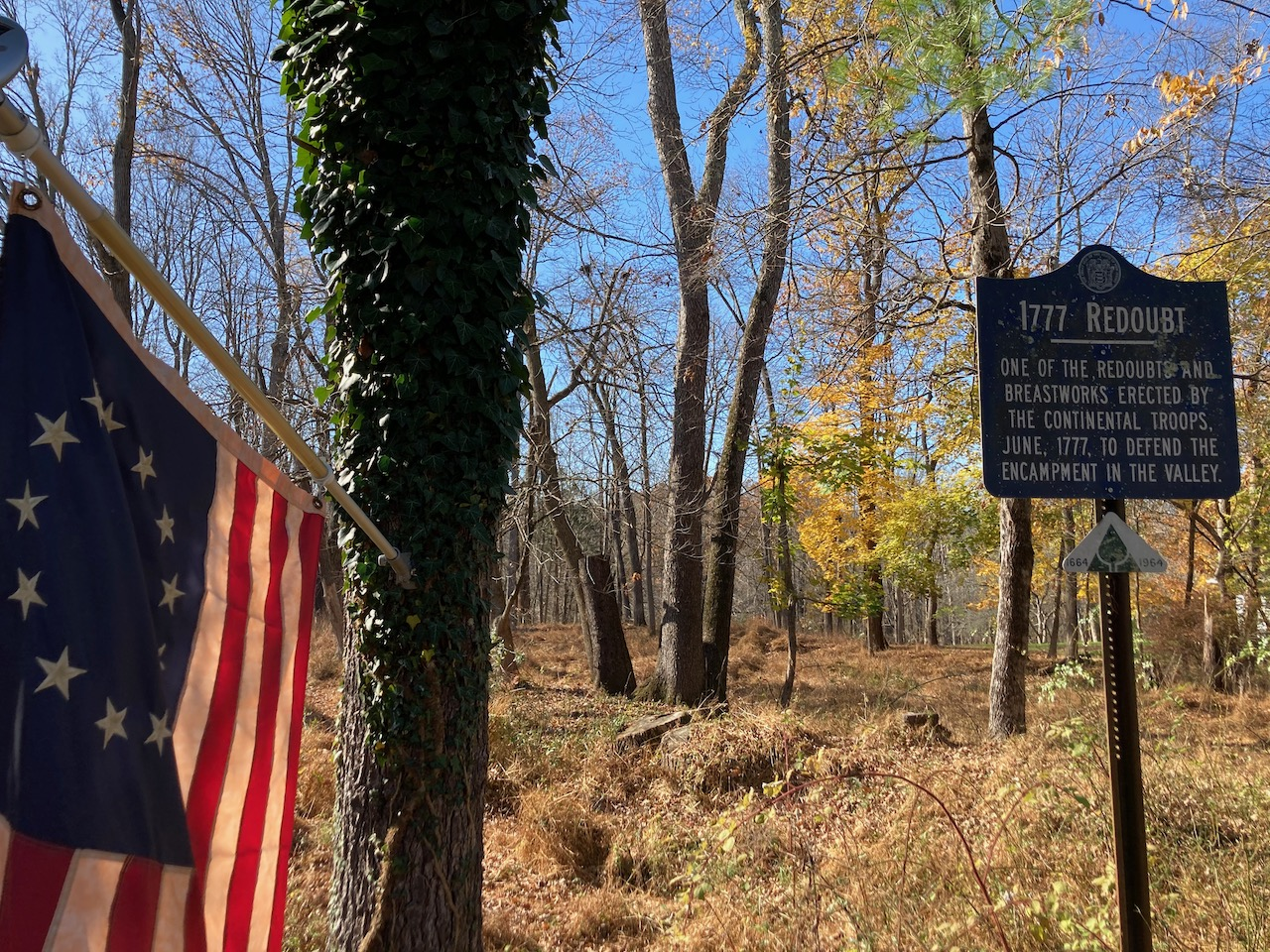 Sign outside of 1777 Redoubt.