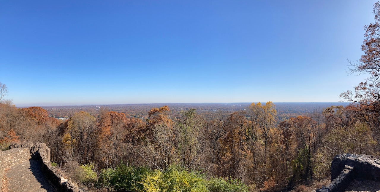 Panorama of New jersey from atop Washington Rock State Park.