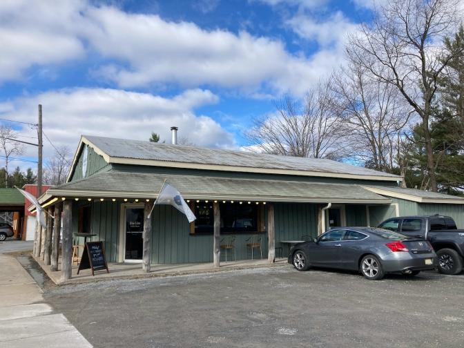 Exterior of Blue Line Coffee Shop.