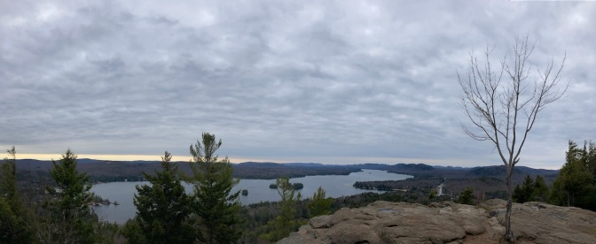 Panorama of Adirondacks from top of Rocky Mountain.