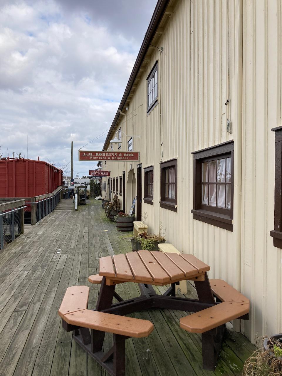 Exterior of Bayshore Center at Bivalve in Port Norris.