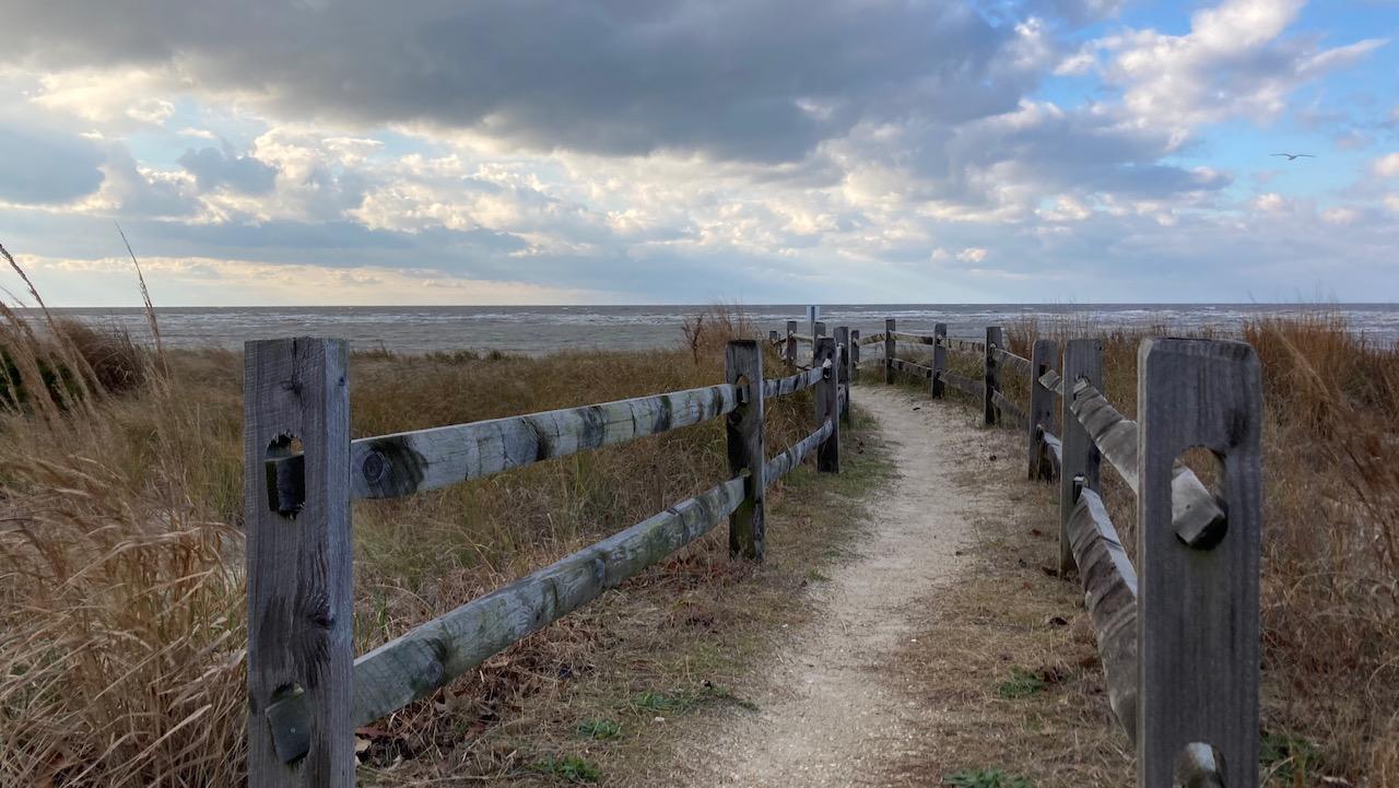 Path through dunes to Miami Beach.