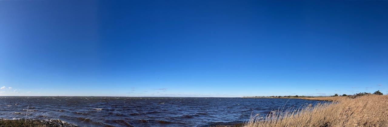 View of Barnegat Bay and marshland.