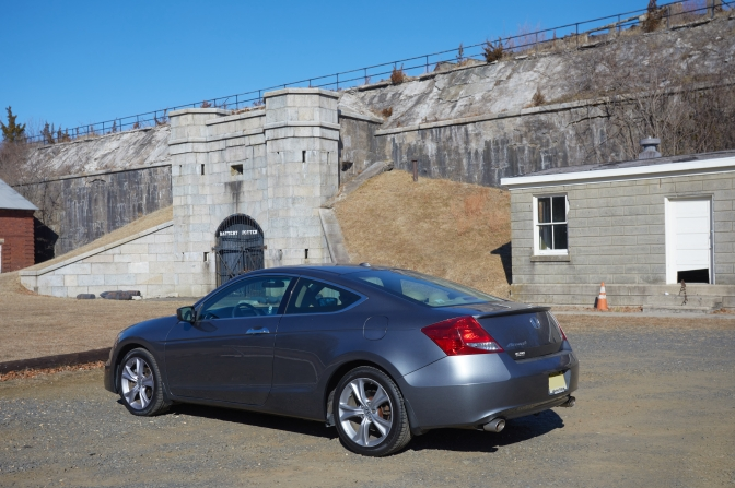 2012 Honda Accord coupe, parked in front of Battery Potter.