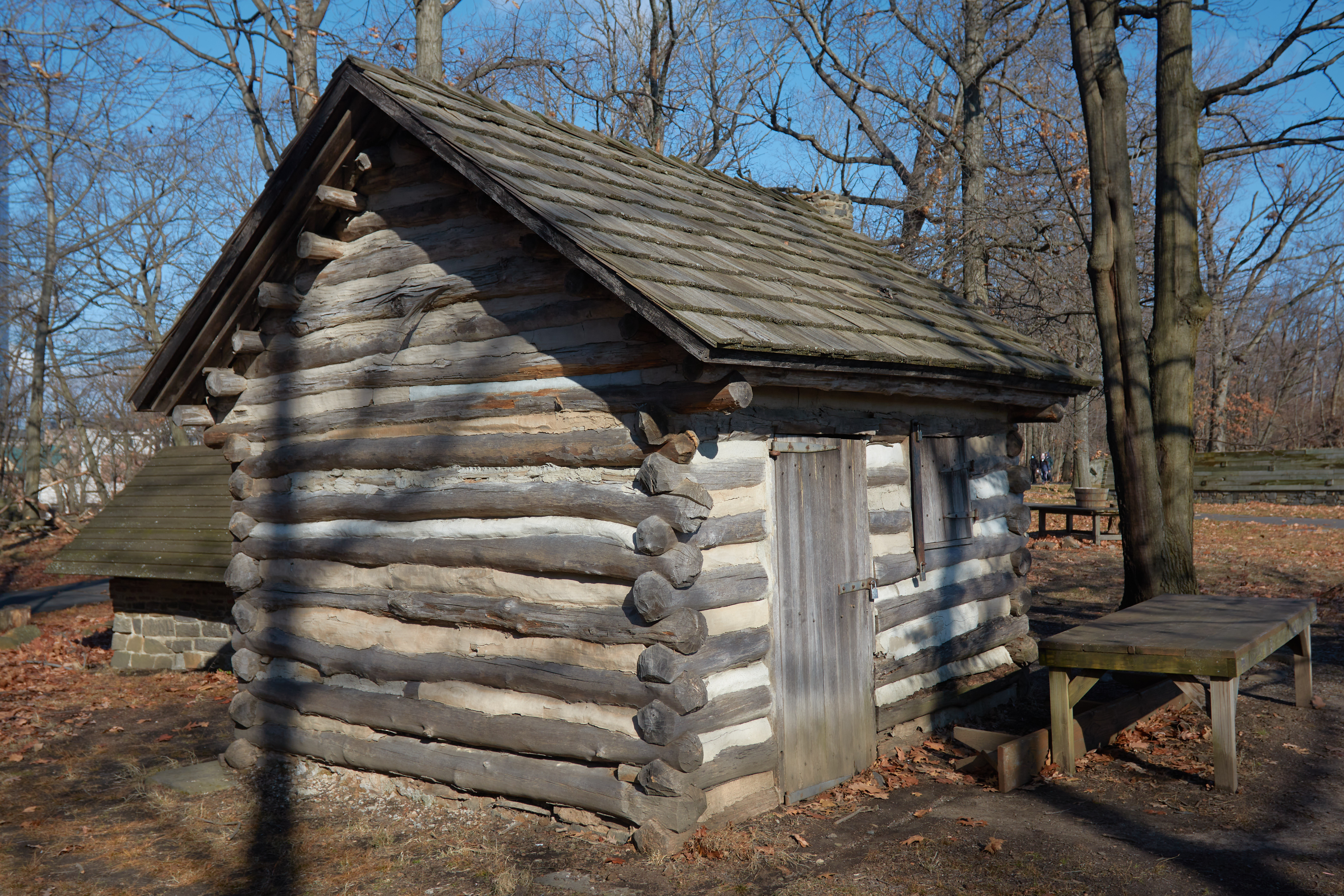 Small log cabin for soldiers.
