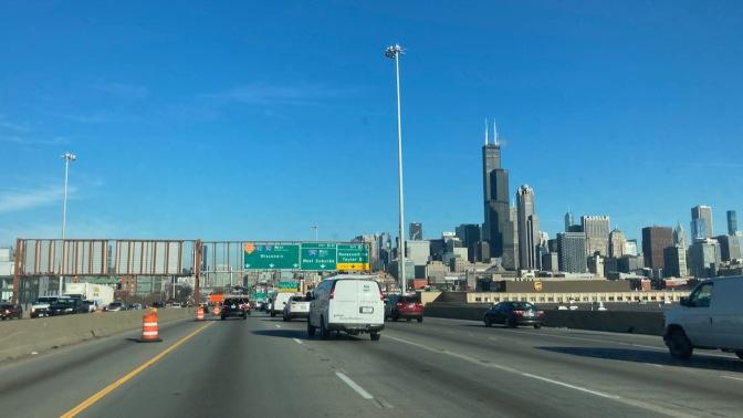 Skyline of Chicago.