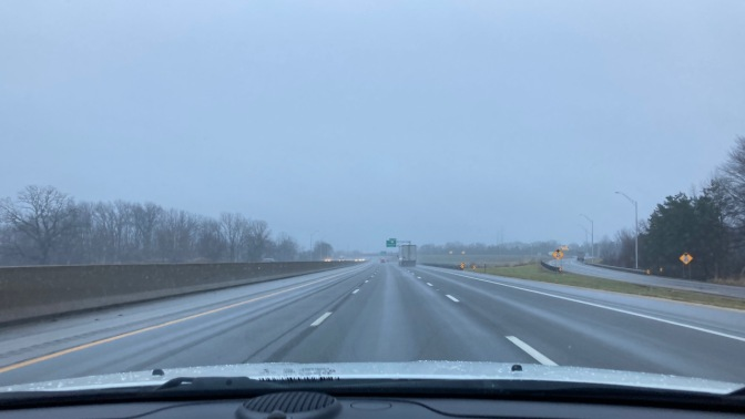 View of I-80 in Indiana.