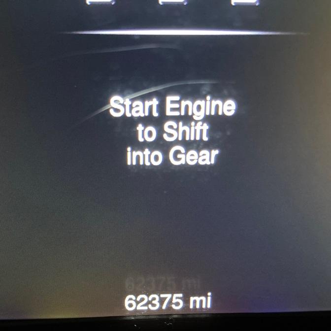 Car odometer reading 62375 mi