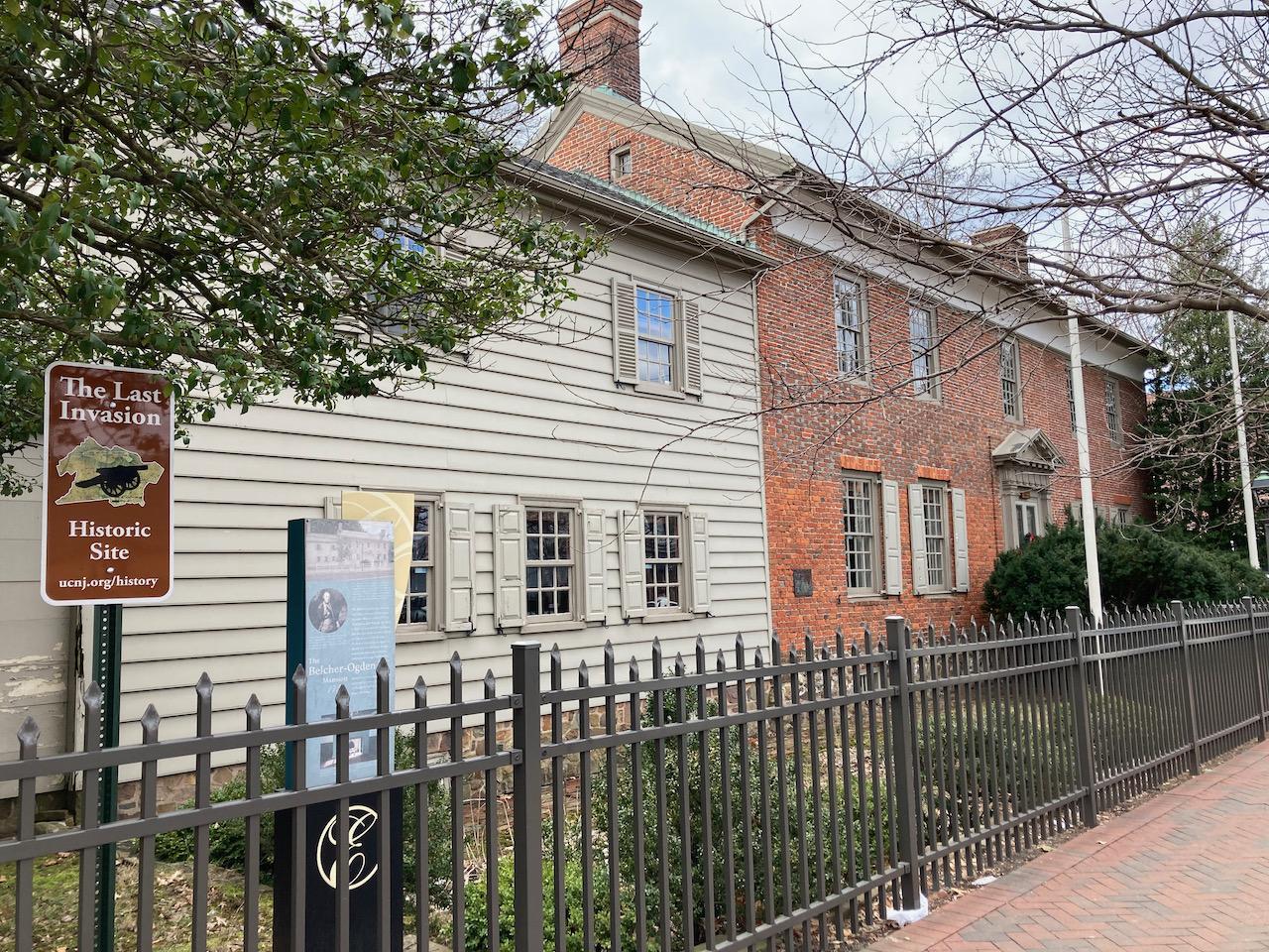Exterior of Belcher-Ogden Mansion.