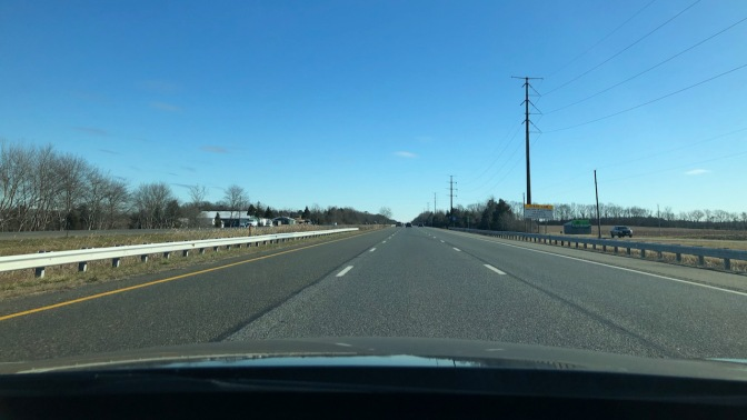 View of Atlantic City Expressway on a sunny day.