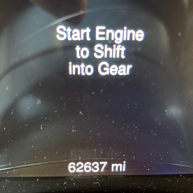 Car odometer reading 62637
