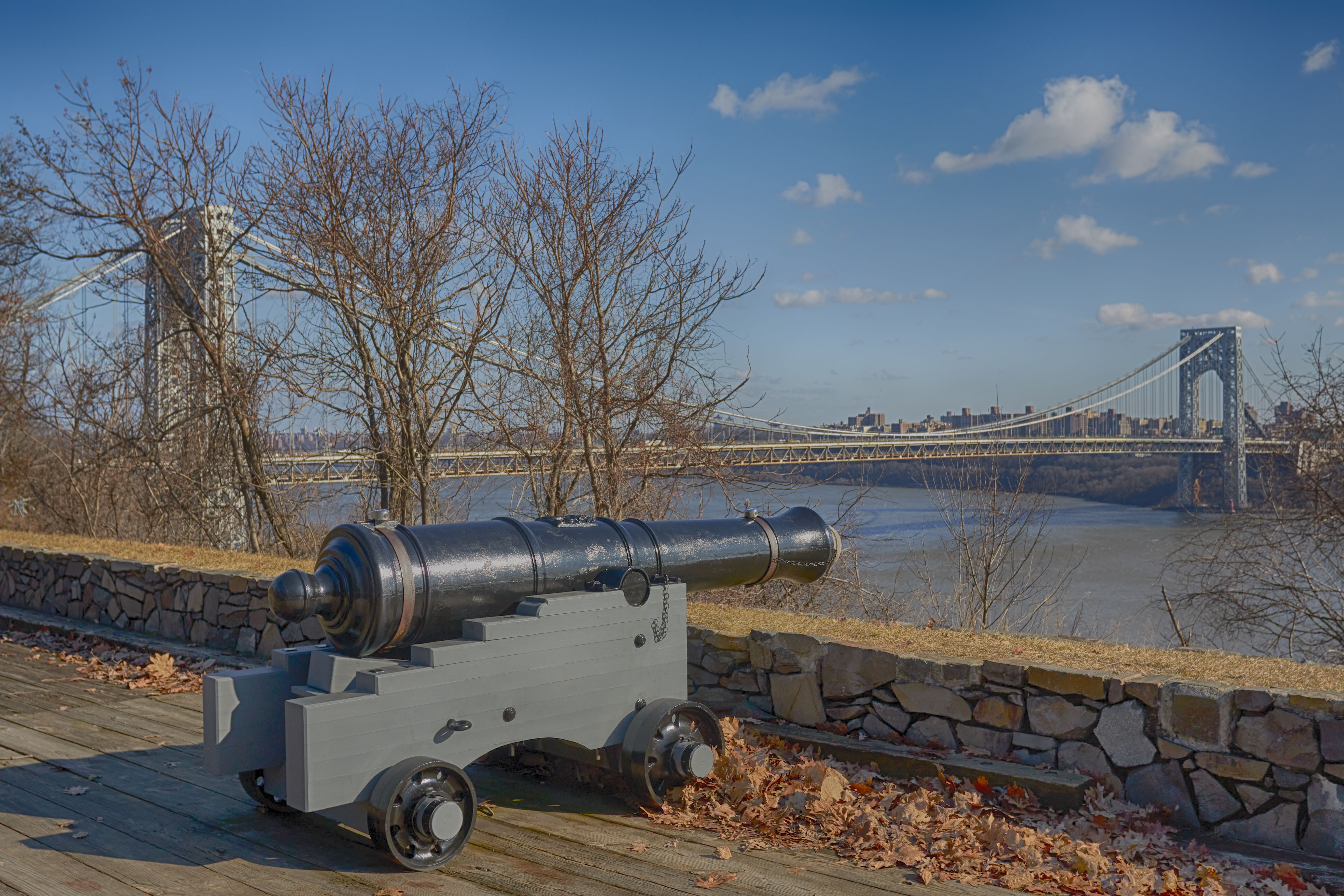 Cannon overlooking the Hudson River.