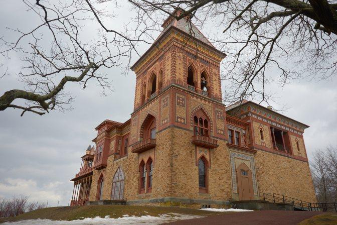 Exterior view of Olana mansion.