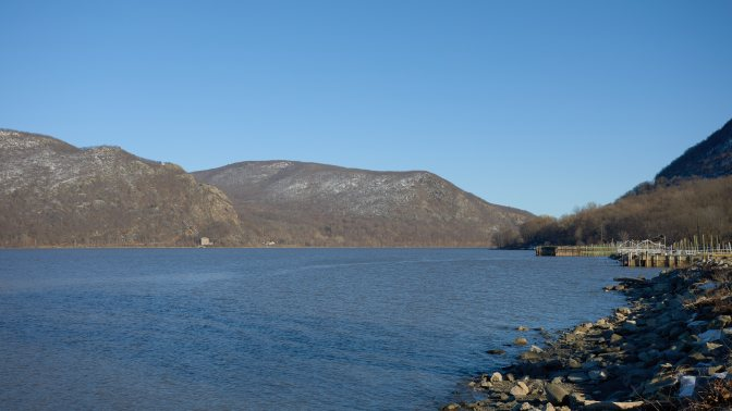View of Hudson River from Donahue Park.