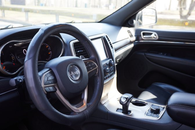 Interior of Jeep Grand Cherokee.