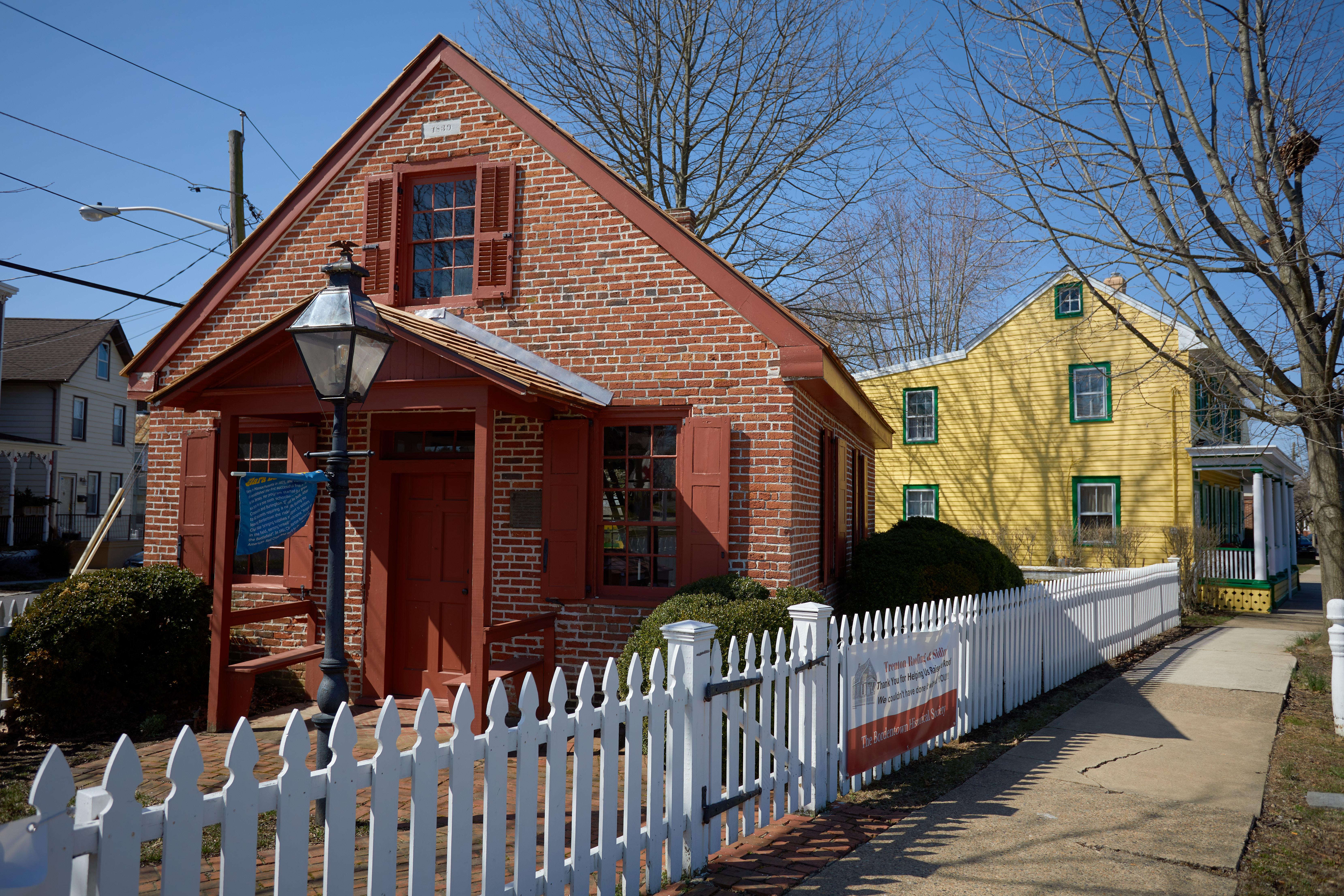 Exterior of Clara Barton Schoolhouse.