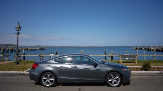 2012 Honda Accord coupe parked in front of Sag Harbor.