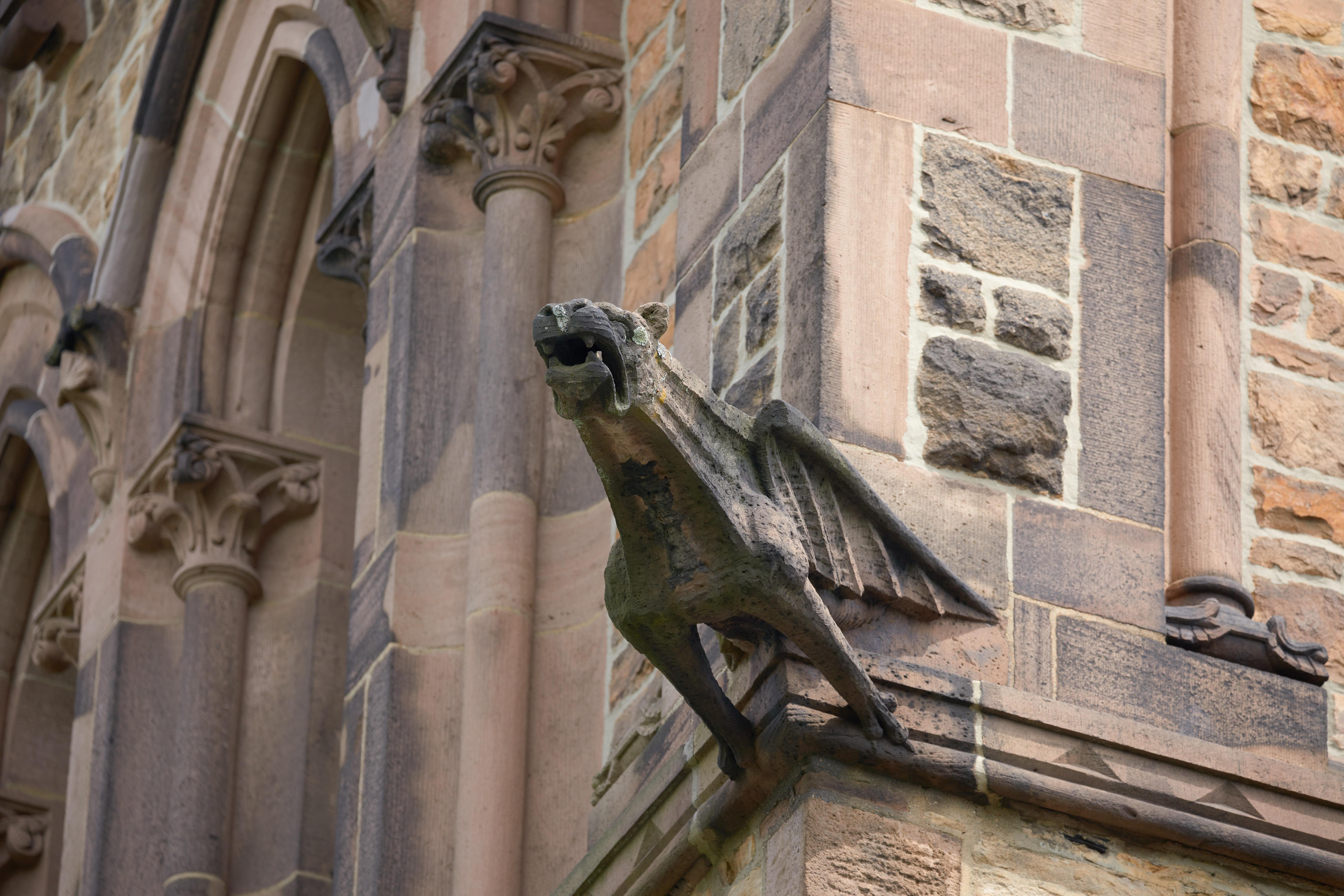 Gargoyle on side of church.