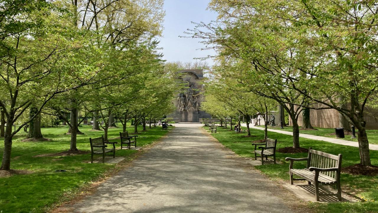 Small park near Princeton Battle Monument.