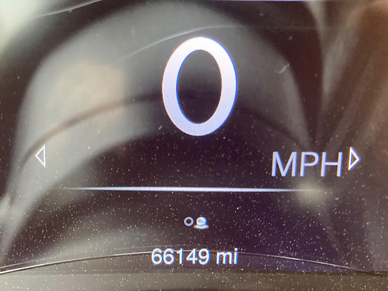Car odometer reading 66149