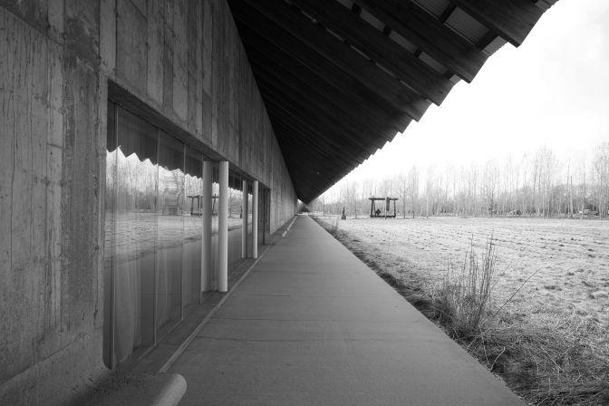 Exterior of Parrish Art Museum.
