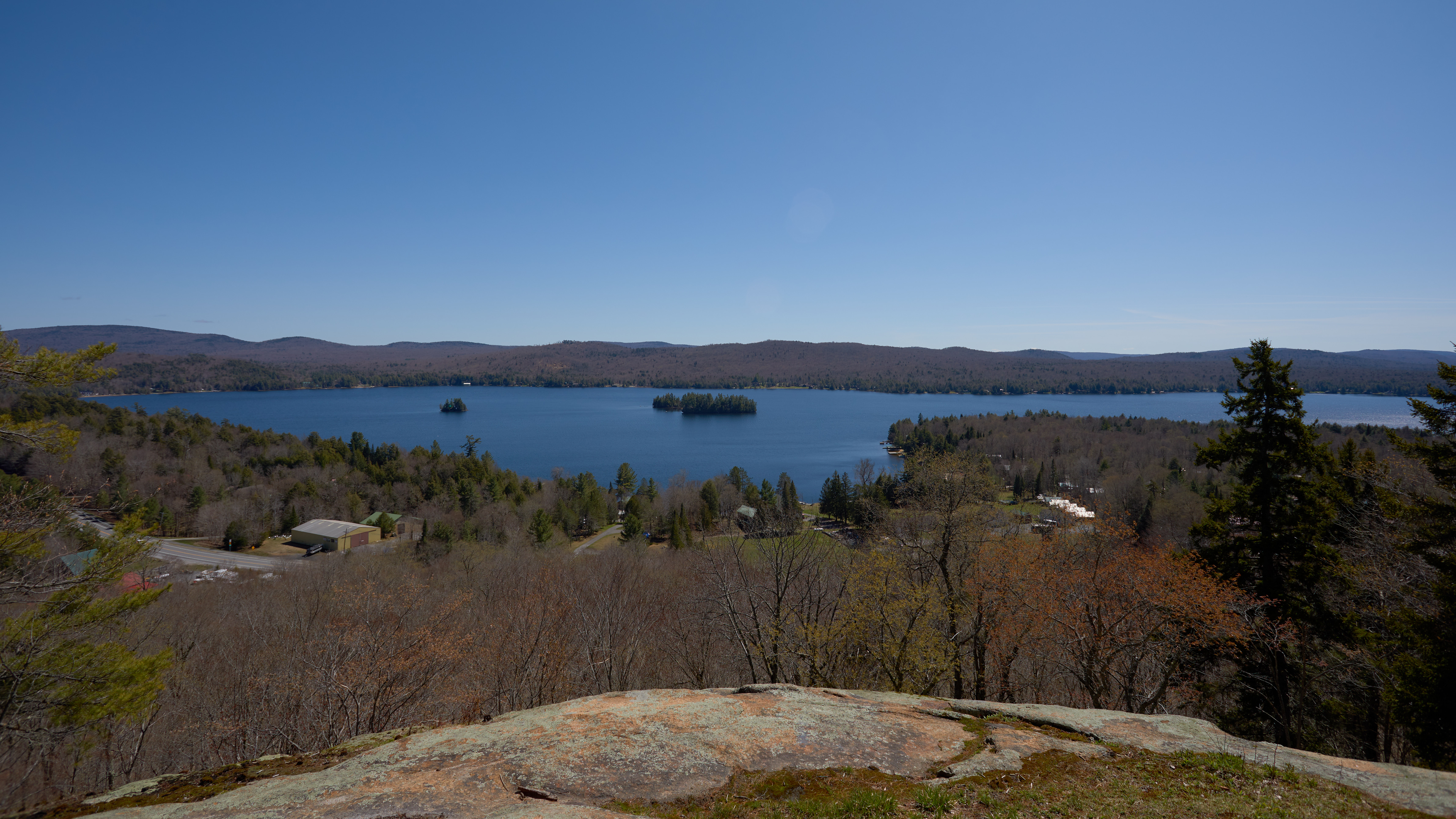 View of Fourth Lake from Eagle Cliff.