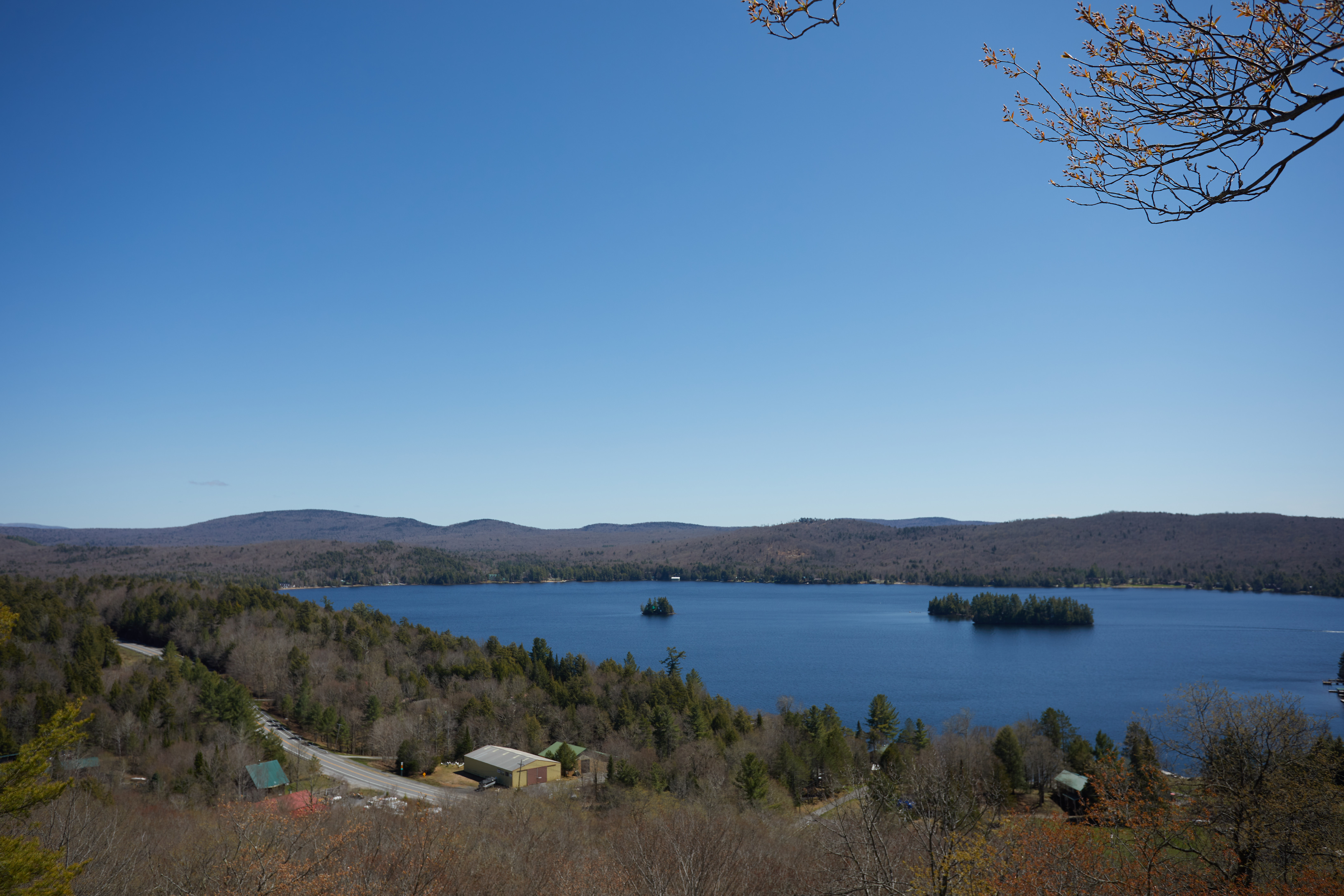 View of Fourth Lake toward the East.