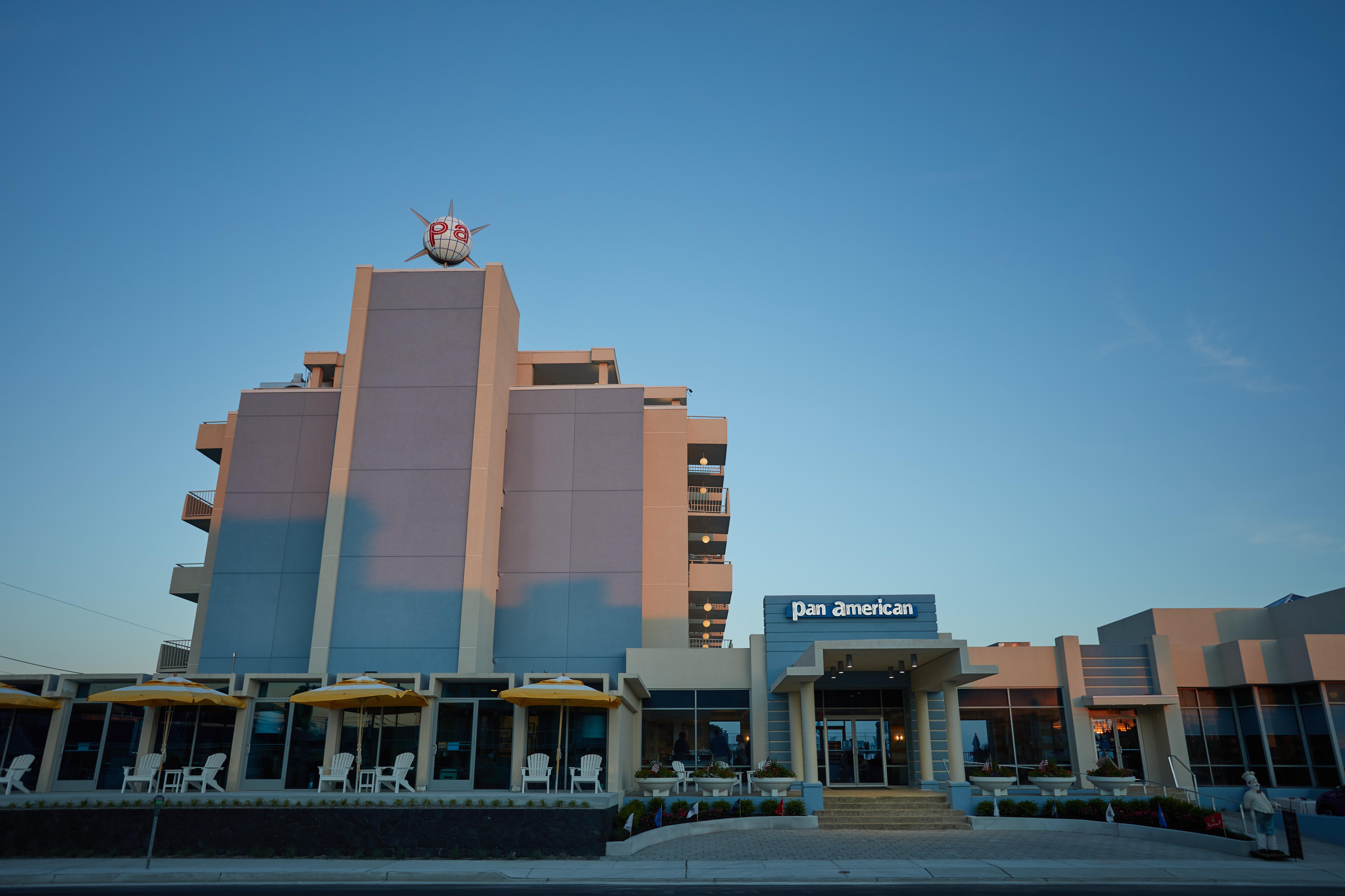 Exterior of Pan American hotel.