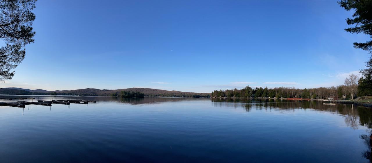 Panorama of Fourth Lake.