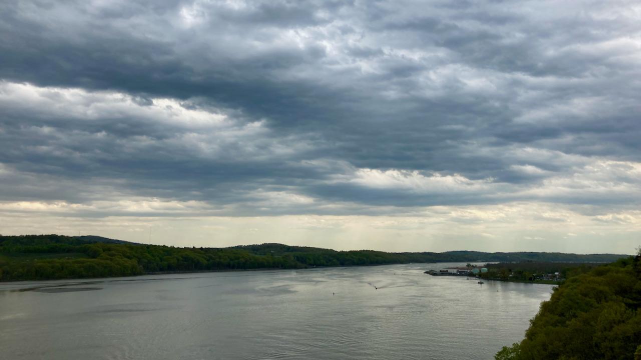 View of Hudson River, looking southward.