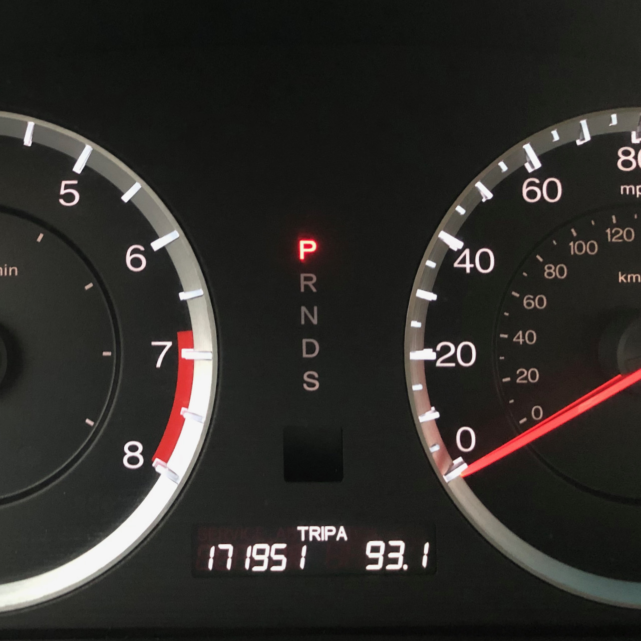 Car odometer reading 171951 93.1