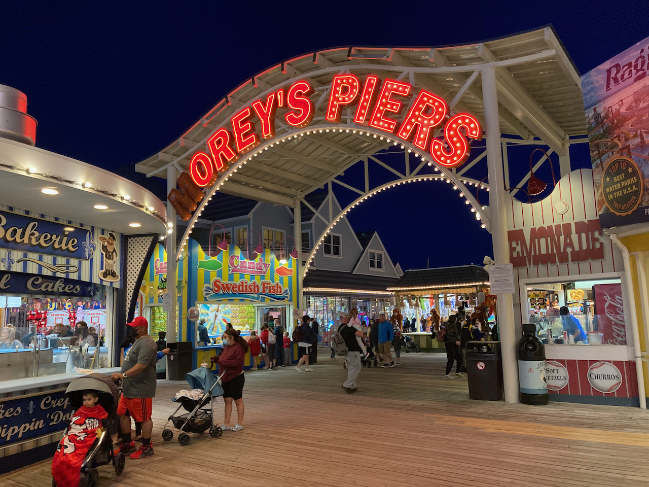 Entrance to Morey's Piers.