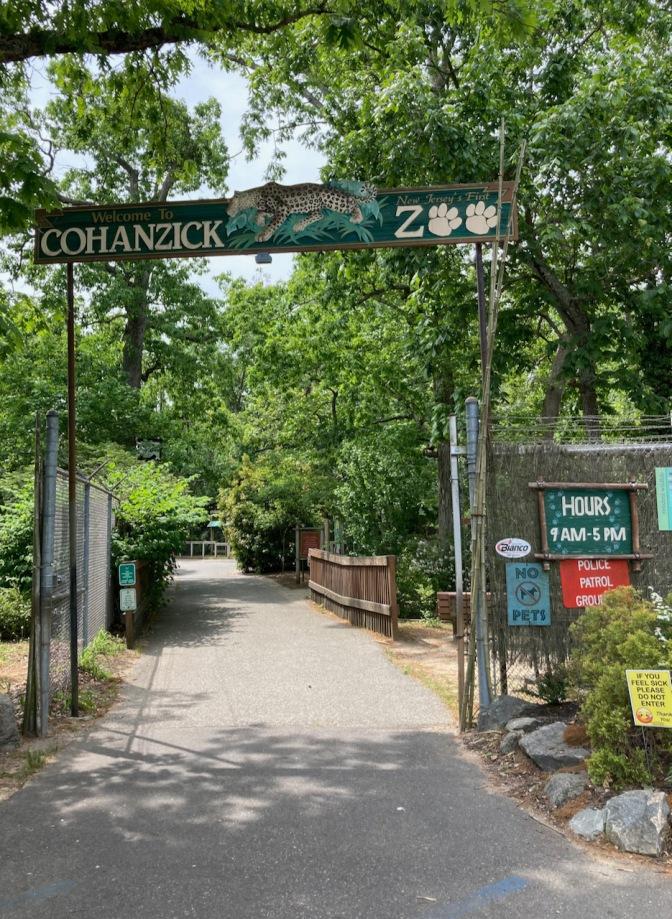 Entrance for Cohanzick Zoo.