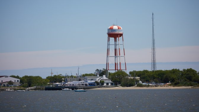 View of Coast Guard base in Cape May.