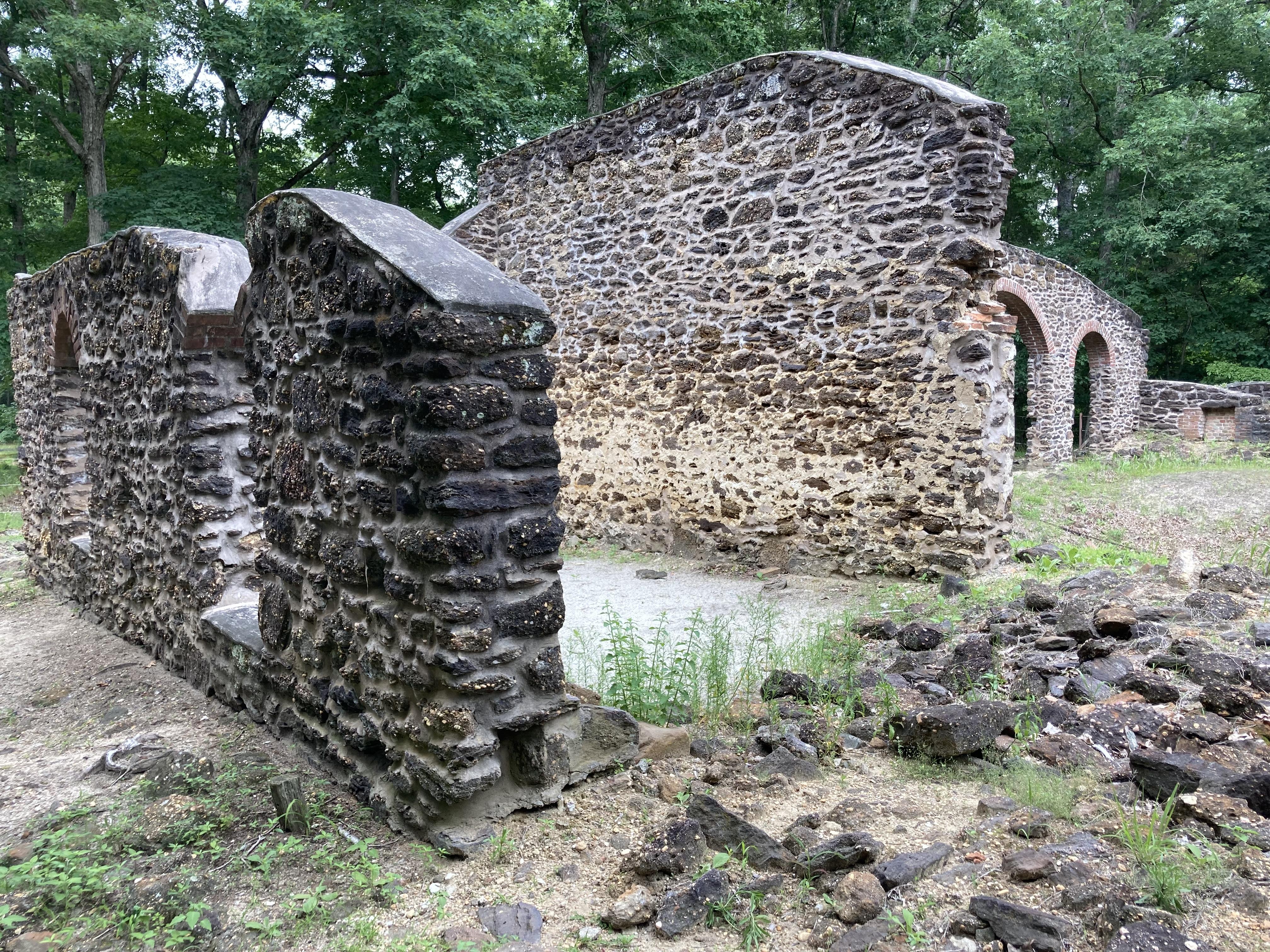 Ruins of glasswork factory.