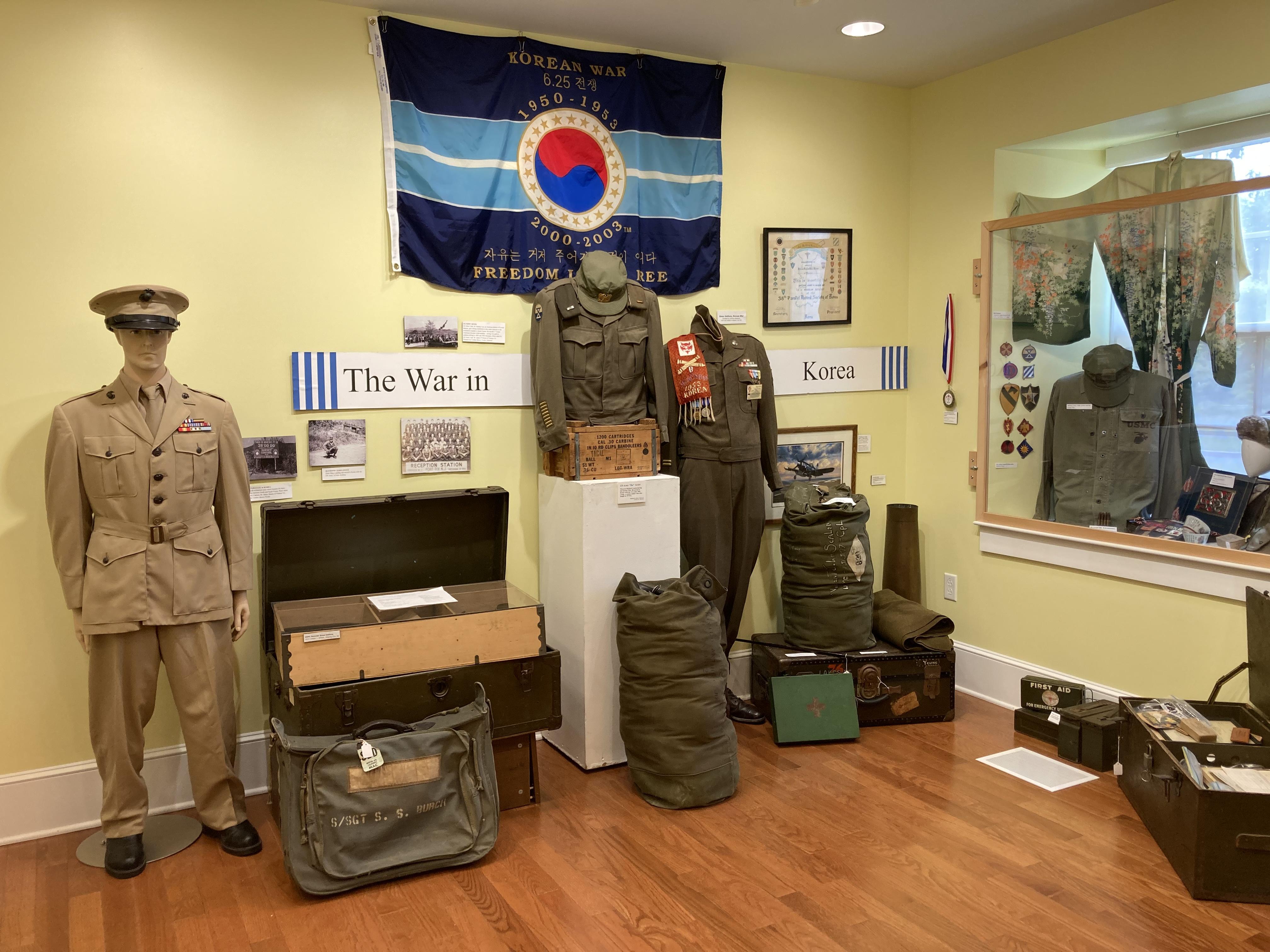 Exhibit on Korean War.