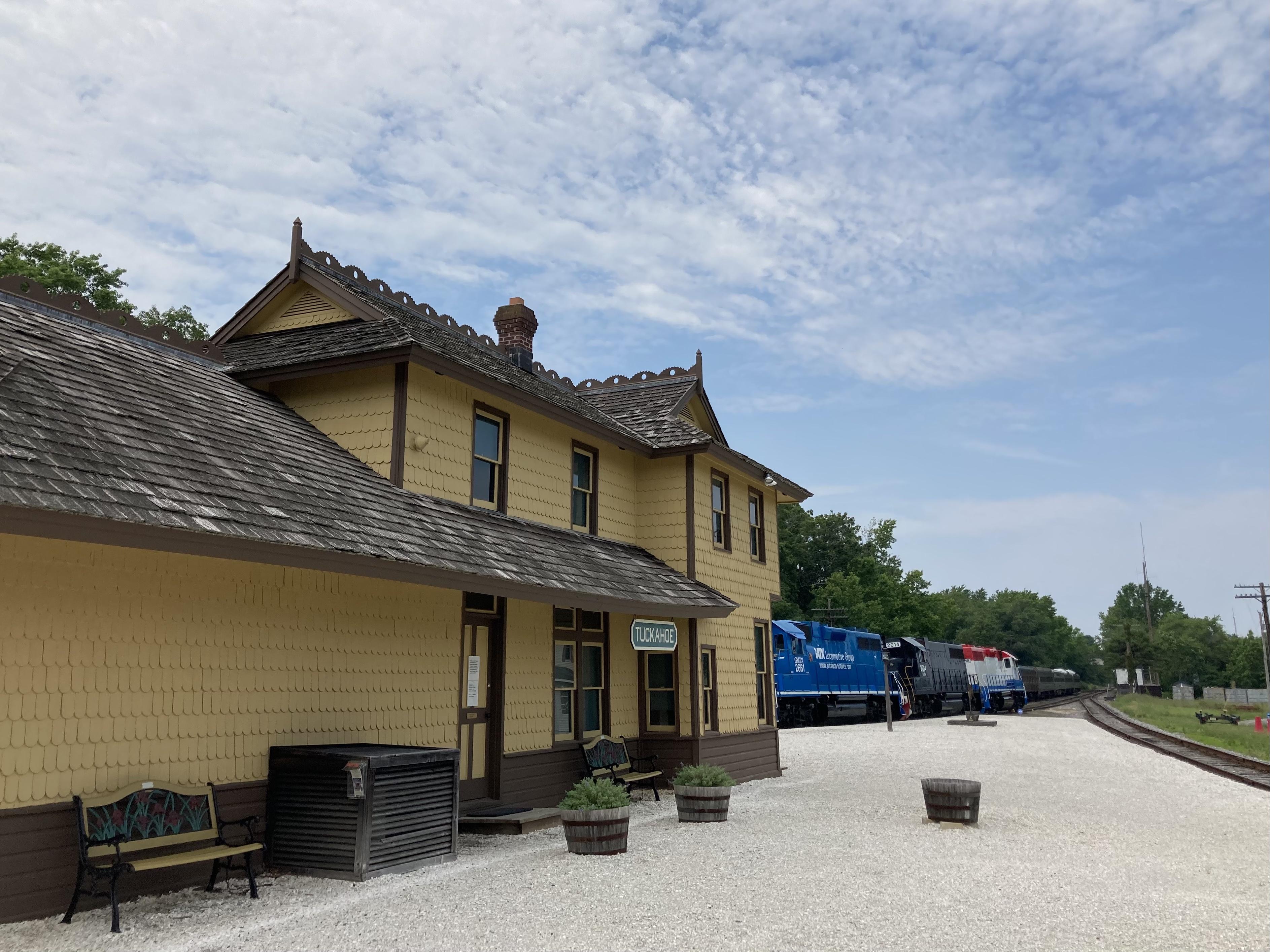 Exterior of Tuckahoe Station.
