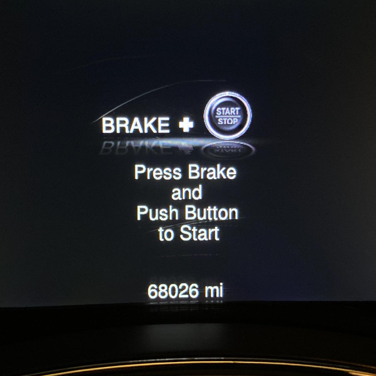 Car odometer reading 68026