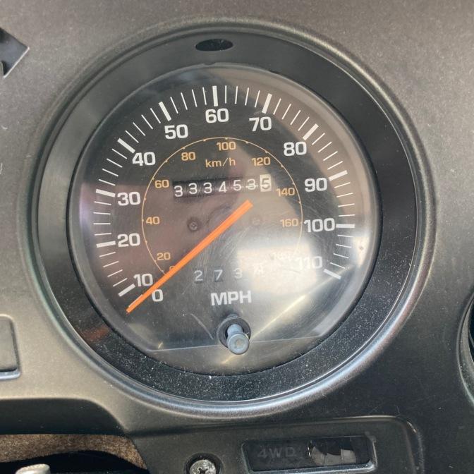 Car odometer reading 333453.