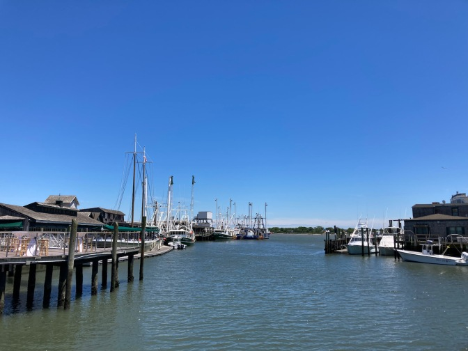 View of Cape May Harbor.