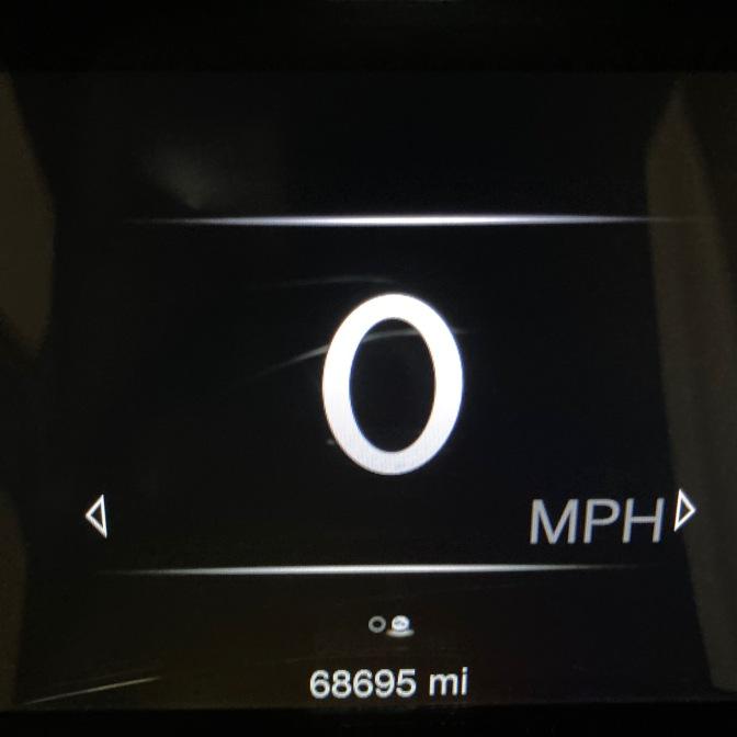 Car odometer reading 68695.