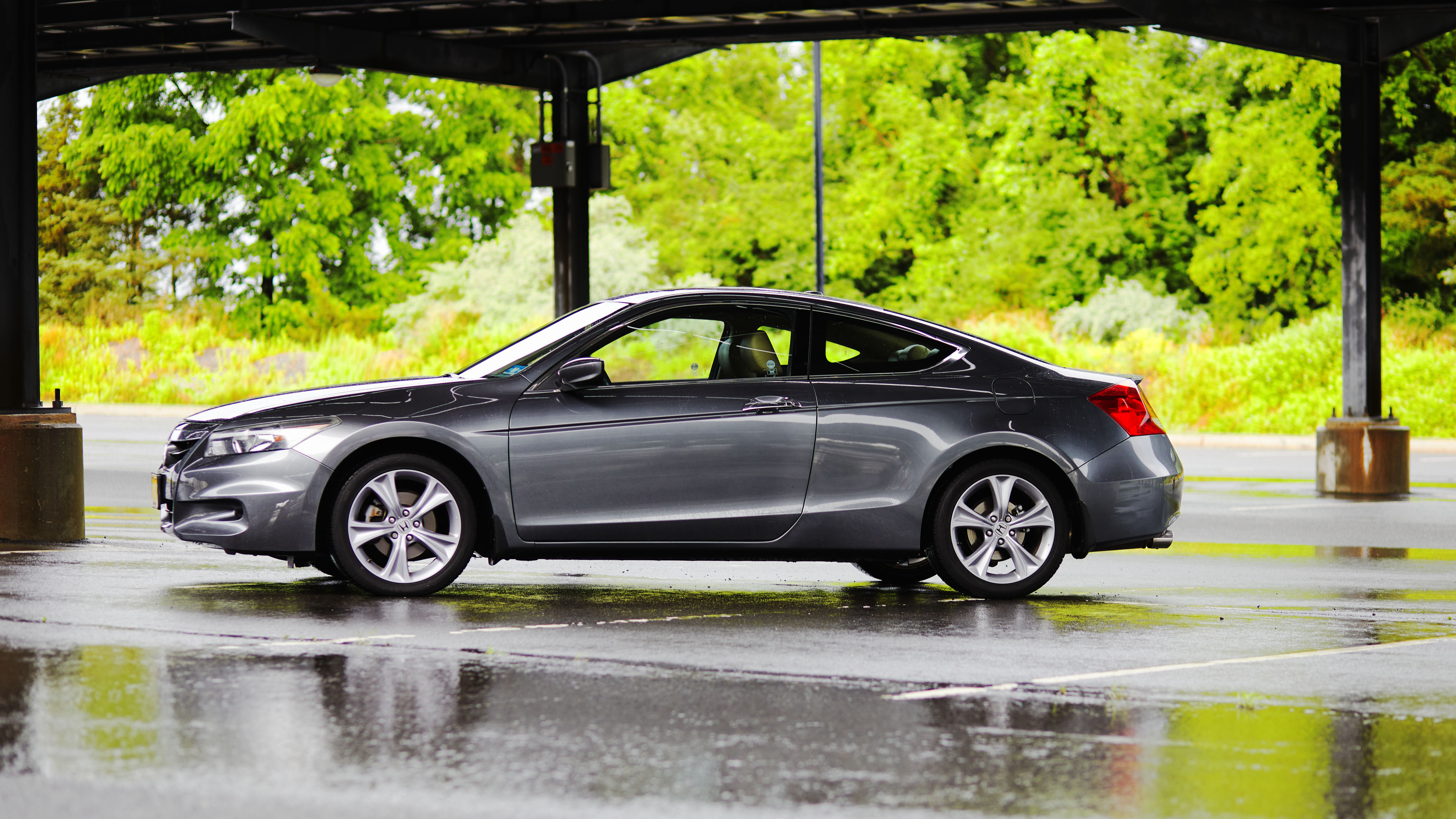 2012 Honda Accord coupe, in parking lot on rainy day.