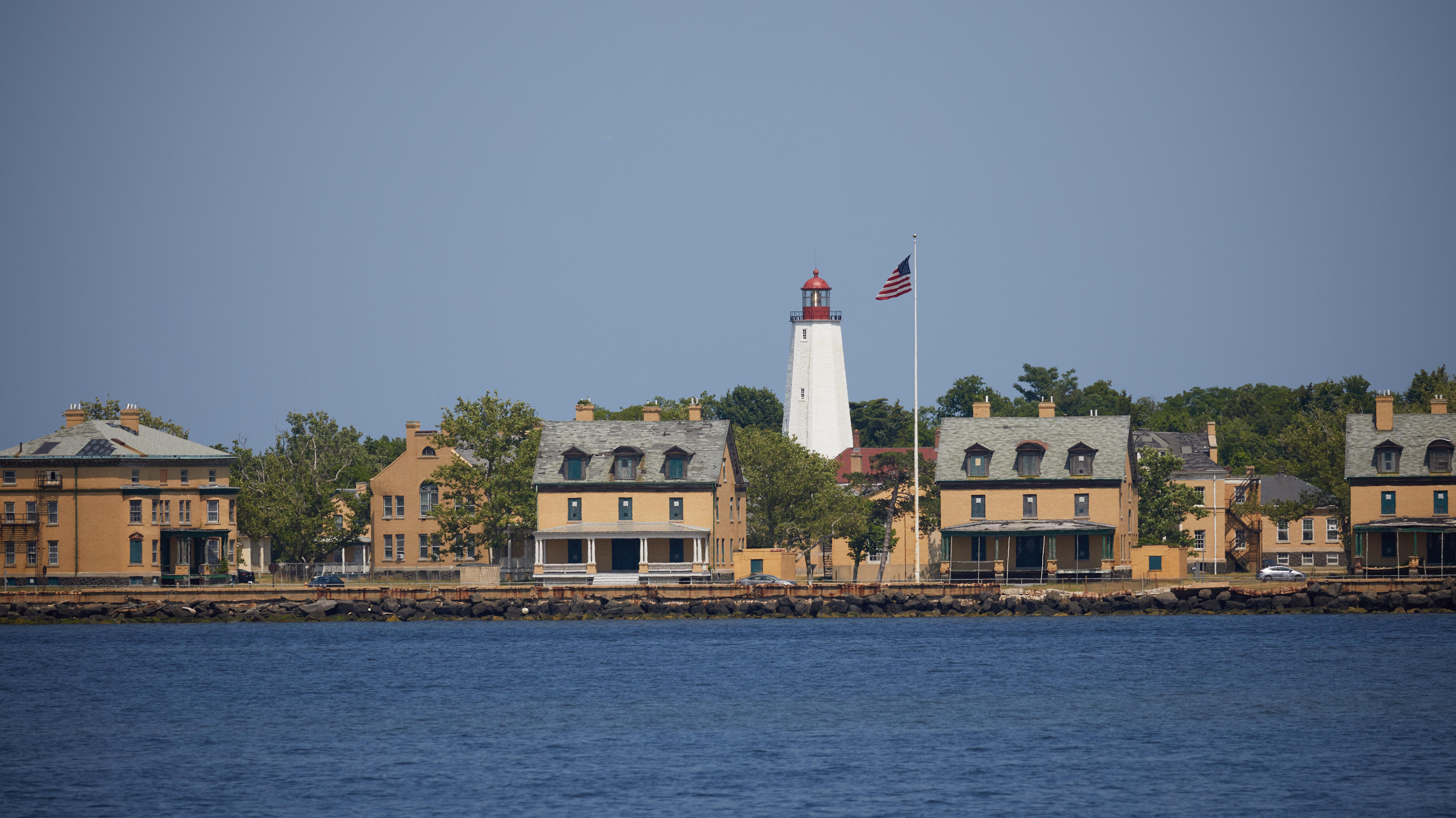 Fort Hancock and Sandy Hook Light.