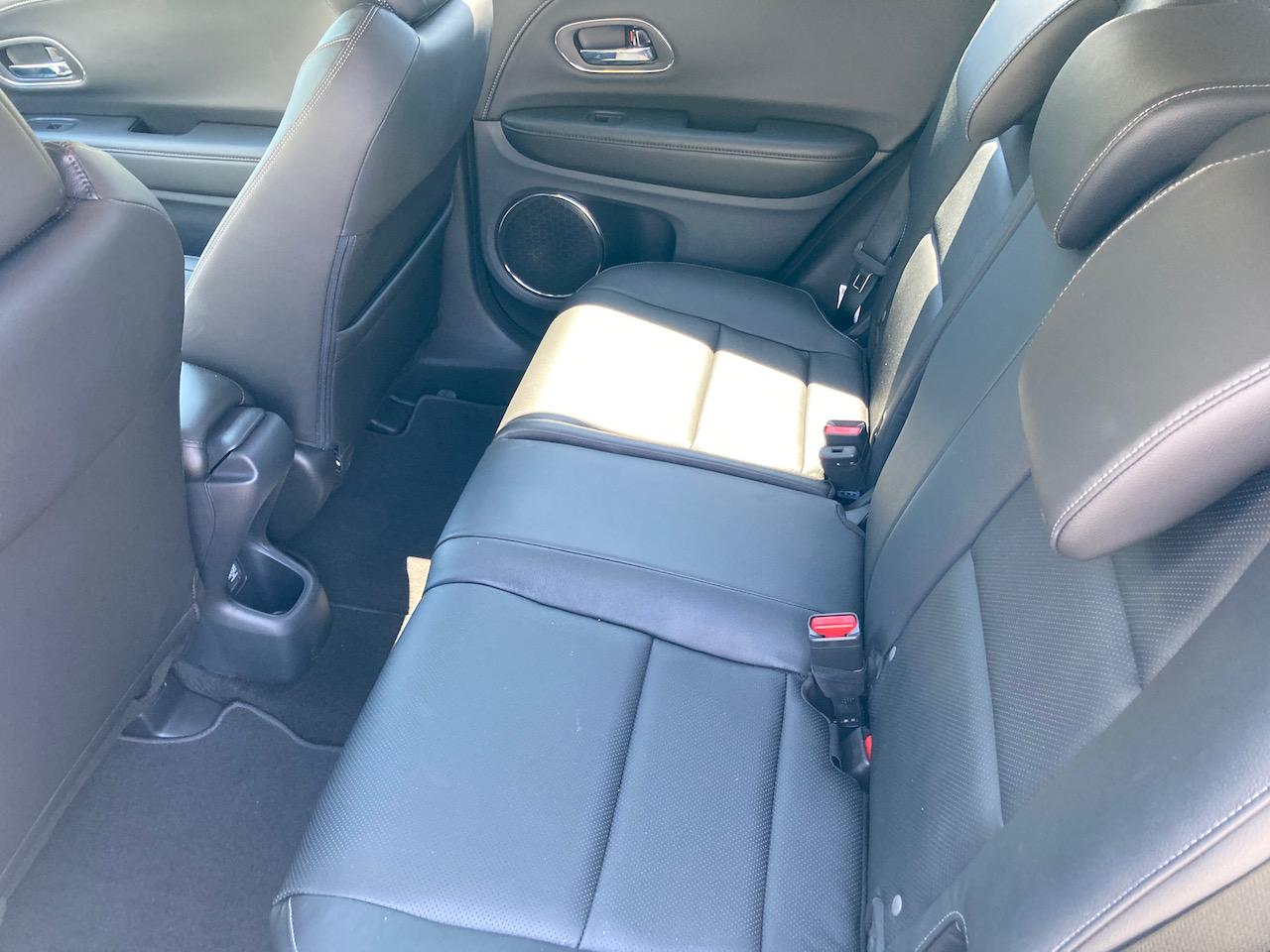 Rear seat of Honda HR-V.
