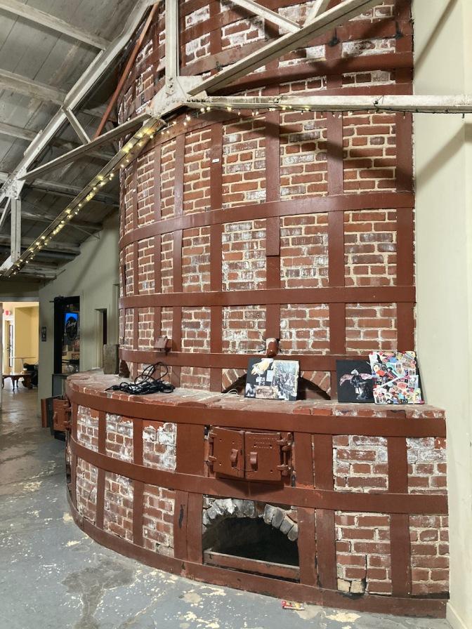 Large brick kiln.