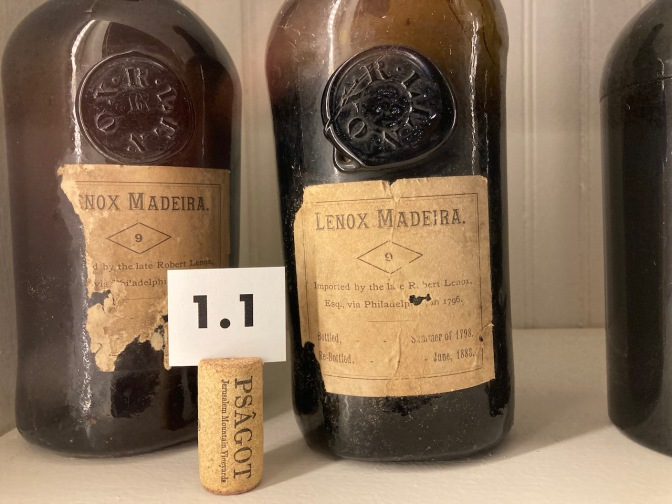 Two bottles of Madeira wine.